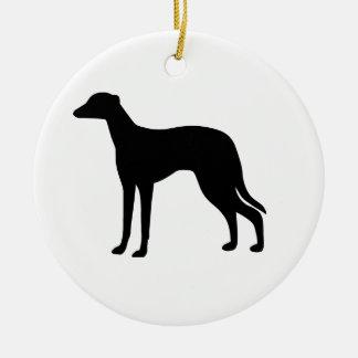 Greyhound Dog Round Ceramic Decoration