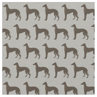 Greyhound Dog Silhouette Animal Pattern Fabric