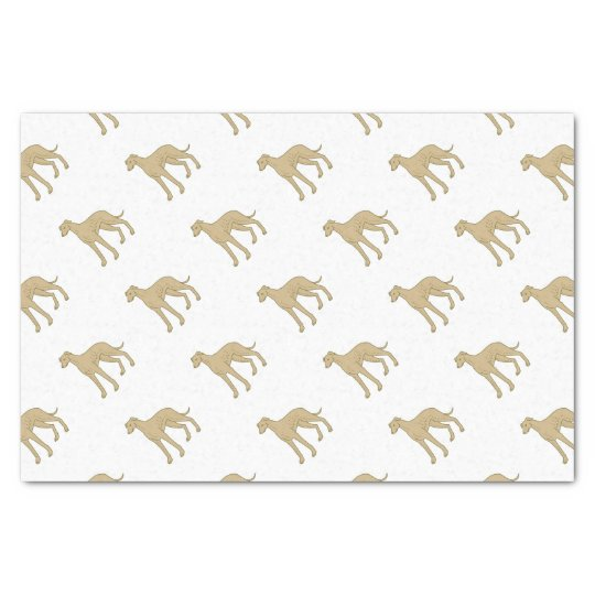 Greyhound Dog Standing Mono Line Tissue Paper