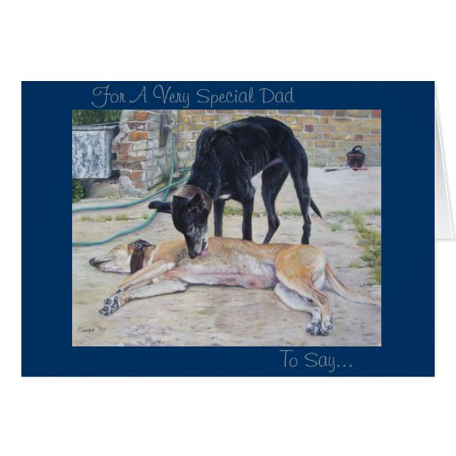 greyhound dogs scenic landscape realist art greeting cards