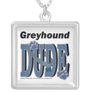 Greyhound DUDE Personalized Necklace
