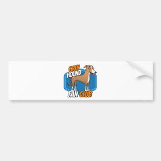 GreyHound Fan Club Bumper Sticker
