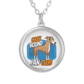 GreyHound Fan Club Round Pendant Necklace