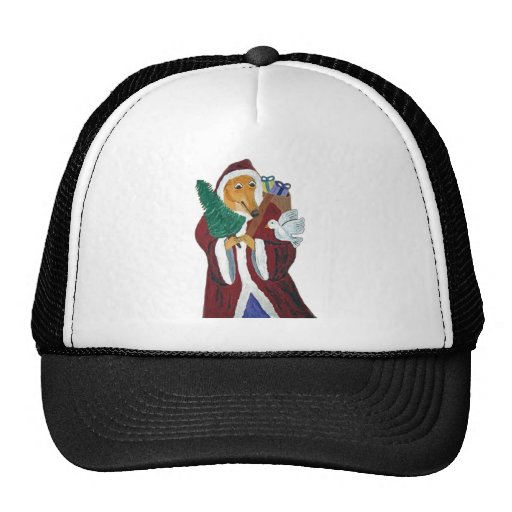 Greyhound Father Christmas Hats