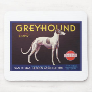 Greyhound Fruit Crate Label Mousepad