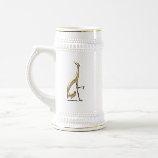 Greyhound Golden Dog Elegant Graceful Minimal Chic Beer Stein