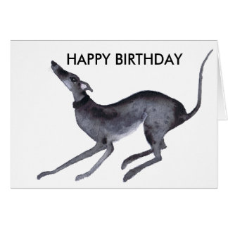 GREYHOUND HAPPY BIRTHDAY CARD