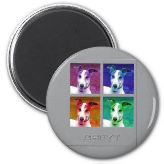 Greyhound Homage to Warhol Magnets