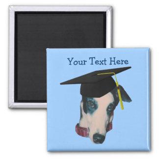 Greyhound In Graduation Cap Funny Dog Magnet