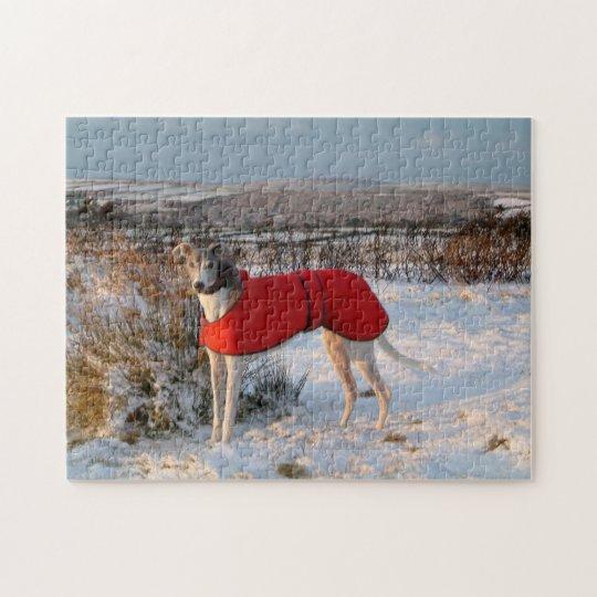 Greyhound jigsaw puzzle (p402) Blue