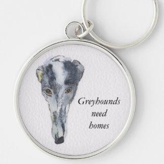 Greyhound key ring (a298)