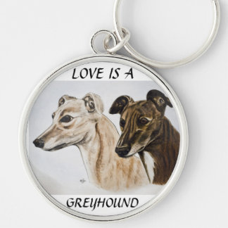 Greyhound Keyring