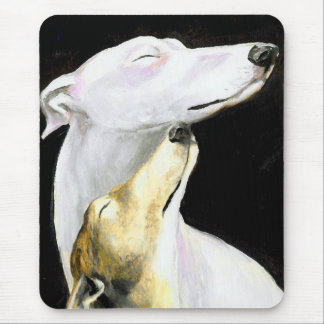 """Greyhound Love"" Dog Art Mousepad"