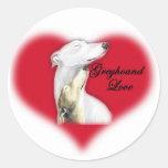 Greyhound Love Dog Art Sticker