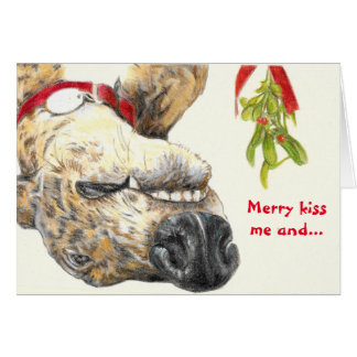 Greyhound lovers Christmas card