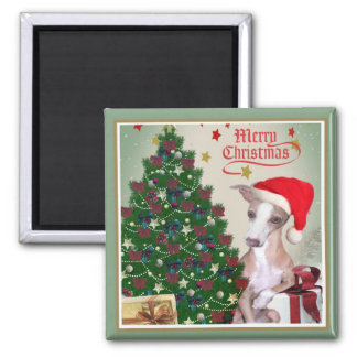 Greyhound Merry Christmas Magnet