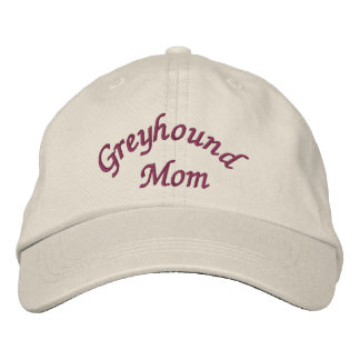 Greyhound Mom Cute Embroidered Baseball Cap