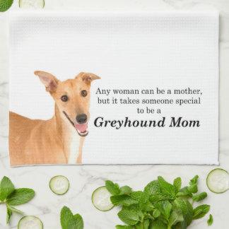 Greyhound Mom Kitchen Towel