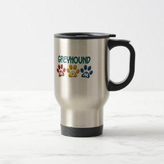 GREYHOUND Mom Paw Print 1 Coffee Mugs