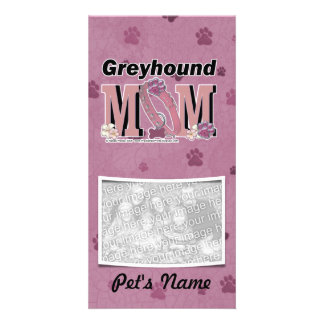 Greyhound MOM Custom Photo Card