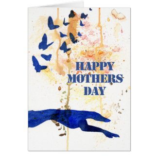 Greyhound Mothers Day card (a446) title=