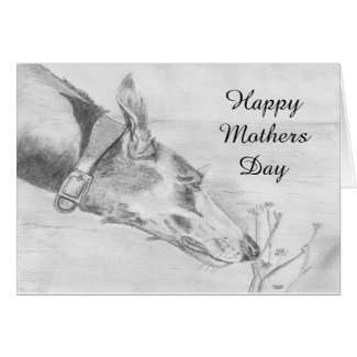 Greyhound Mothers Day card (a448) title=