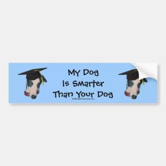 Greyhound My Dog Smarter Than Funny Bumper Sticker