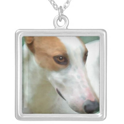 greyhound personalized necklace