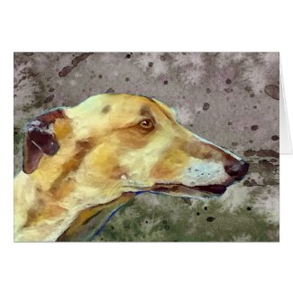 Greyhound note card (a339) title=