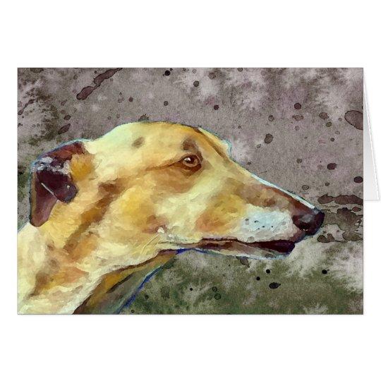 Greyhound note card (a339)