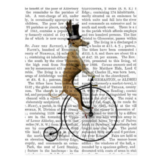 Greyhound on Black Penny Farthing Bike Postcard