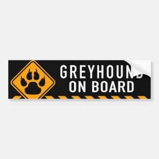 Greyhound On Board Bumper Sticker