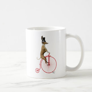 Greyhound on Red Penny Farthing Bike Coffee Mug