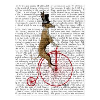 Greyhound on Red Penny Farthing Bike Postcard