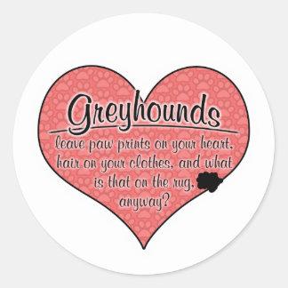 Greyhound Paw Prints Dog Humor Sticker