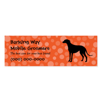 Greyhound Pet Care Orange Pack Of Skinny Business Cards