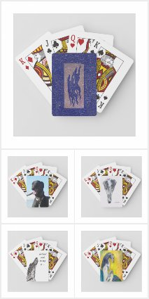 Greyhound playing cards