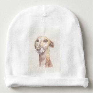 Greyhound portrait baby beanie