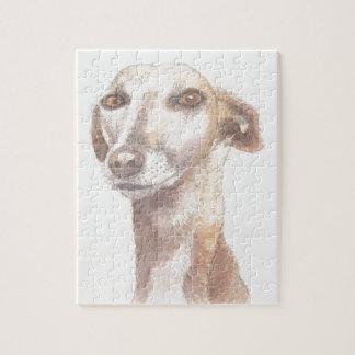 Greyhound portrait jigsaw puzzle