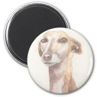 Greyhound portrait magnet