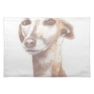 Greyhound portrait placemat