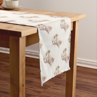 Greyhound portrait short table runner