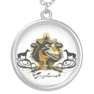 GreyHound Projeckt Dog Neckalce Round Pendant Necklace