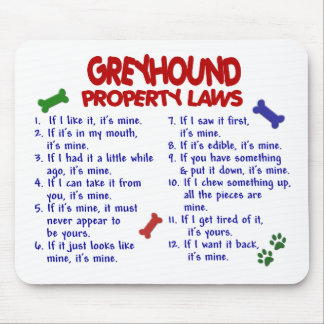 GREYHOUND Property Laws 2 Mouse Mat