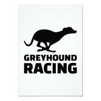 Greyhound racing 9 cm x 13 cm invitation card