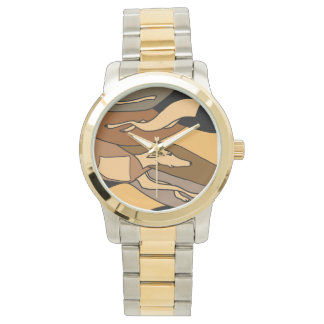Greyhound Racing Abstract Art Watch
