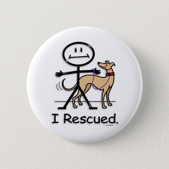 Greyhound Rescue 6 Cm Round Badge