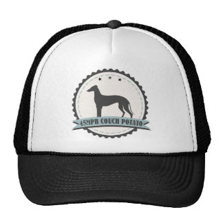Greyhound Retired Racer 45 mph Lazy Racing Dog Cap