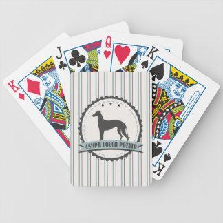 Greyhound Retired Racer 45mph Lazy Dog Bicycle Poker Cards