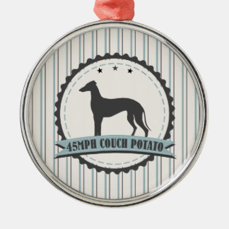 Greyhound Retired Racer 45mph Lazy Dog Christmas Ornament
